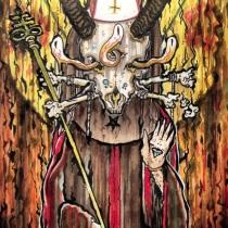 Apostle of Doom / Marker on 9x5 Cotton Envelope