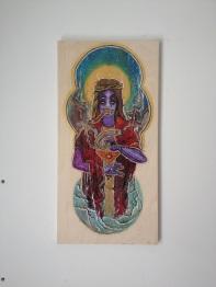 The Fool / Acrylic On Wood / 24x12