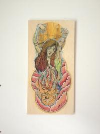 The Magician / Acrylic On Wood / 24x12