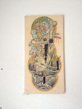 Empress / Acrylic On Wood / 24x12