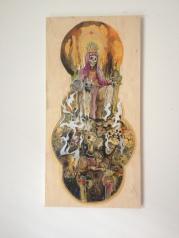 Emperor / Acrylic On Wood / 24x12