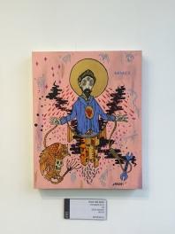 Altar 8: Integritas MCMXIX Monoceros / Acrylic on wood panel, 16x20.