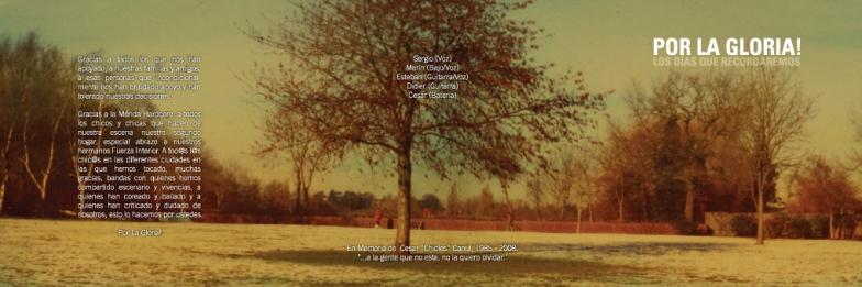 Por la Gloria / CD Insert Layout (Outside)
