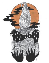 Ruina Apática / Acrylic on Hot Press Watercolor Paper / 16x12