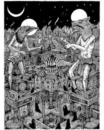 Altar A La Rapiña / Original Line Drawing / 12x16