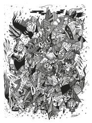 Cadenas de Traición, Rabia y Condena / Original Drawing / 24x18