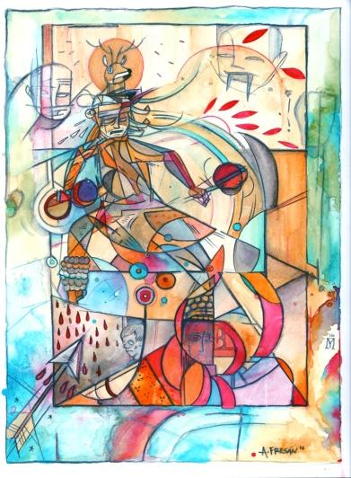 Venado / Acrylic on Paper / 16x12