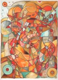 Xantolo / Acrylic on Hot Press Watercolor Paper / 16x12