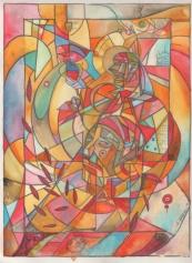 Yaqui / Acrylic on Hot Press Watercolor Paper / 16x12